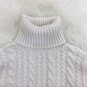 Zara Knit Angora Turtleneck Sweater
